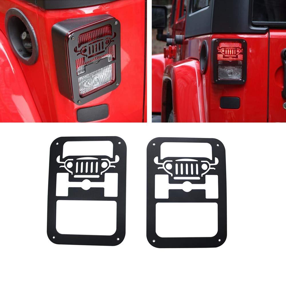 DEF 2Pcs Tail Light Covers Trim Guards Protector Car Accessories for 2007-2018 Jeep Wrangler JK JKU