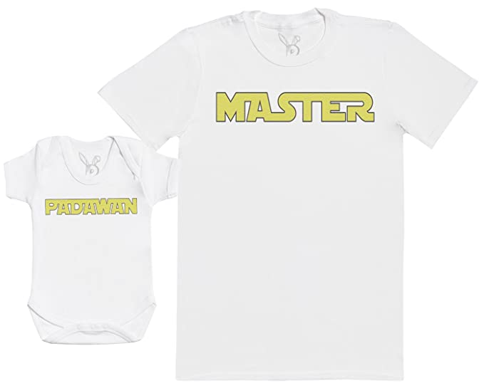 Regalo para Padres y beb/és en un Cuerpo para beb/és y una Camiseta de Hombre a Juego Baby Bunny Player One /& Player Two