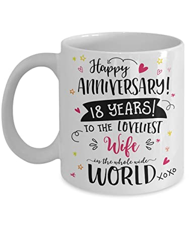 Amazon 18th Wedding Anniversary Gifts For Her Loveliest Wife