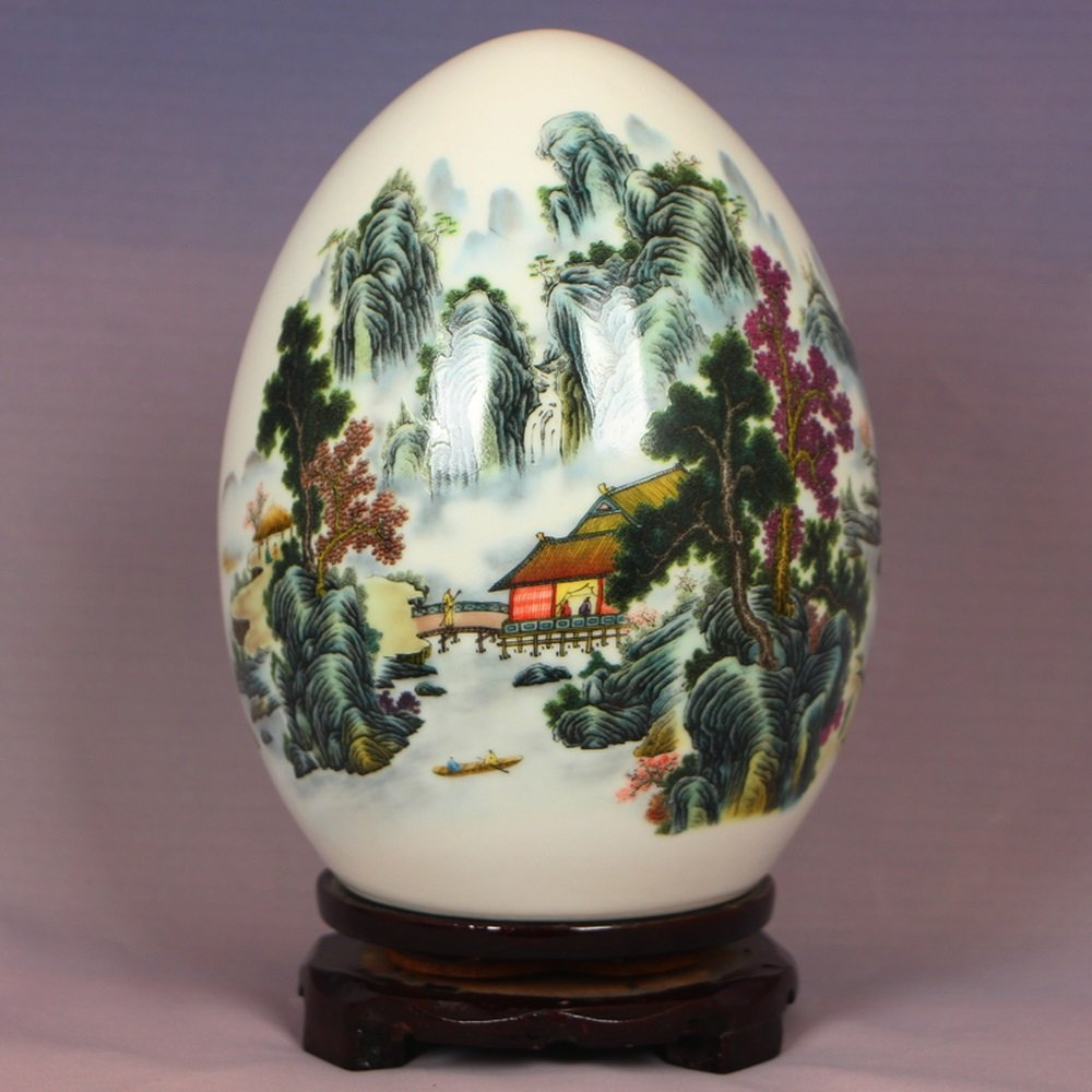 LXYFMS Ceramic Powder Eggshell and Egg Egg Auspicious New Chinese Home Decoration Crafts (Color : A)