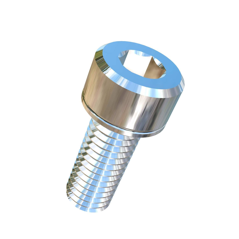 Allied Titanium 0016860, (Pack of 10) M8-1.25 Pitch X 20mm Titanium Socket Head Machine Screw, Grade 5 (Ti-6Al-4V)