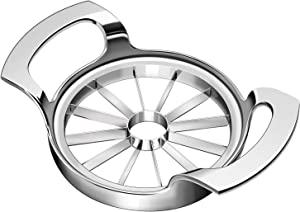 Apple Slicer,Upgraded Version of Heavy-Duty Apple Slicer 12-Blade Oversized Apple Corer And Divider, stainless steel super sharp apple cutter, suitable for up to 4 inches of