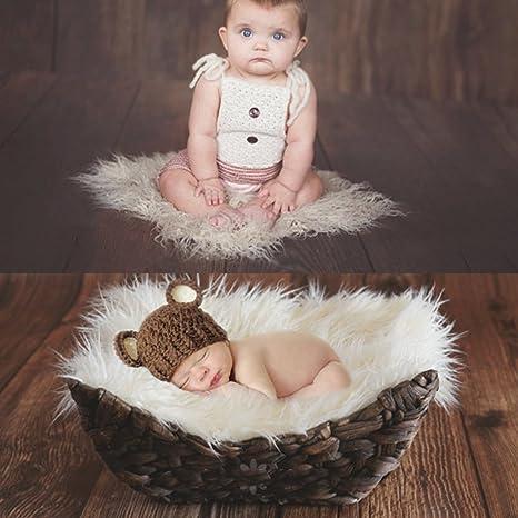 13,78 X 9,84 X 5,12 Pollici, Bianco, Nero Month Bath Photography Furniture Piccoli Accessori da Vasca Usual Newborn Baby Basket Ablerfly Baby Photography Bed