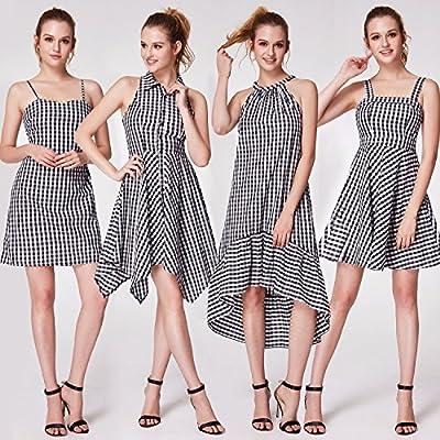 Alisapan Alisa Pan Lapel Neck Vintage Plaid Shirt Dress For Women 05991
