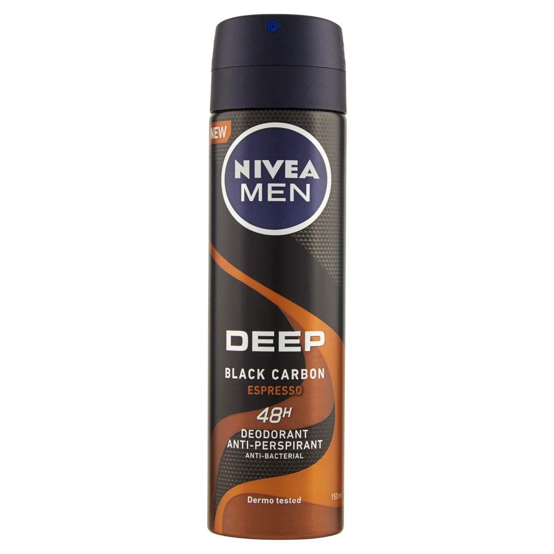 Nivea Men Deep Black Carbon Espresso, Desodorante Antitranspirante, 150 ml