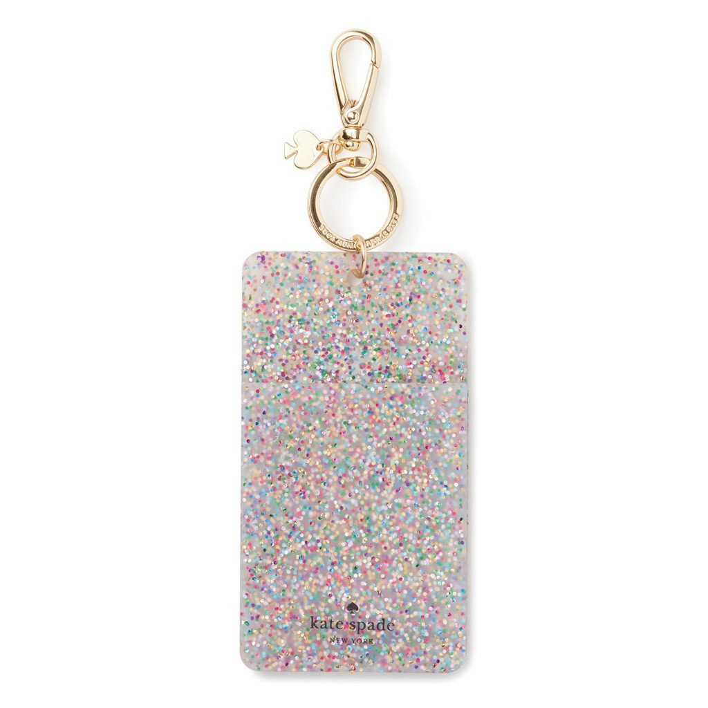 Kate Spade New York Id Badge Clip Key Chain, Multi Glitter