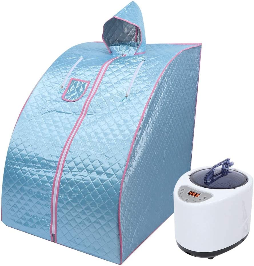 Lightweight Folding Tent ZONEMEL Portable Steam Sauna Personal Steam Sauna SPA for Weight Loss Detox Therapy Steamer NOT Included-Blue