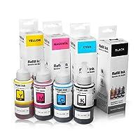 Kit 4 Cores de Tinta Compatível Corante para Epson Ecotank L355 L365 L375 L380 L395 L475 L495 L110 L200 L210 L220 L555 L575 L800 L1300 Refil 4x70ml