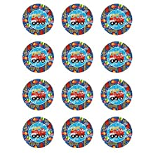 Firetruck Edible Cupcake Toppers - Set of 12 by Cake Topper Designs