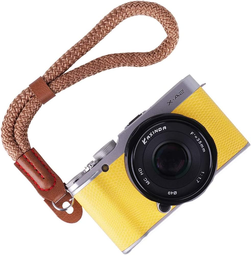 Color : Brown CAOMING Vintage Cotton Soft Hand Strap Grip Wrist Strap for DSLR//SLR Cameras Durable