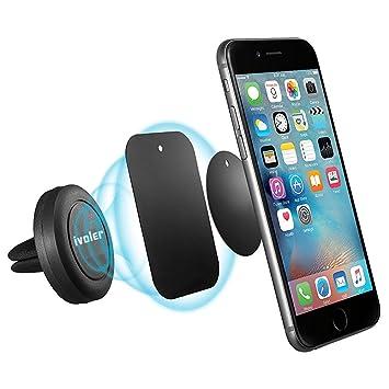 iVoler Soporte Movil Coche Air Magnético Universal Soporte de Smartphone para Rejillas del Aire de Coche