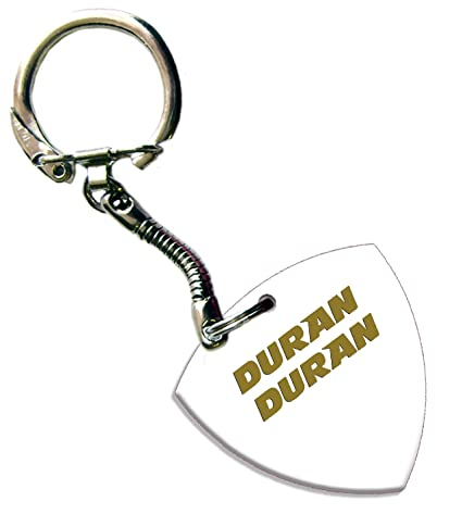 Amazon.com: Duran Duran Oro Foil Blanco Impreso Bass Púa ...