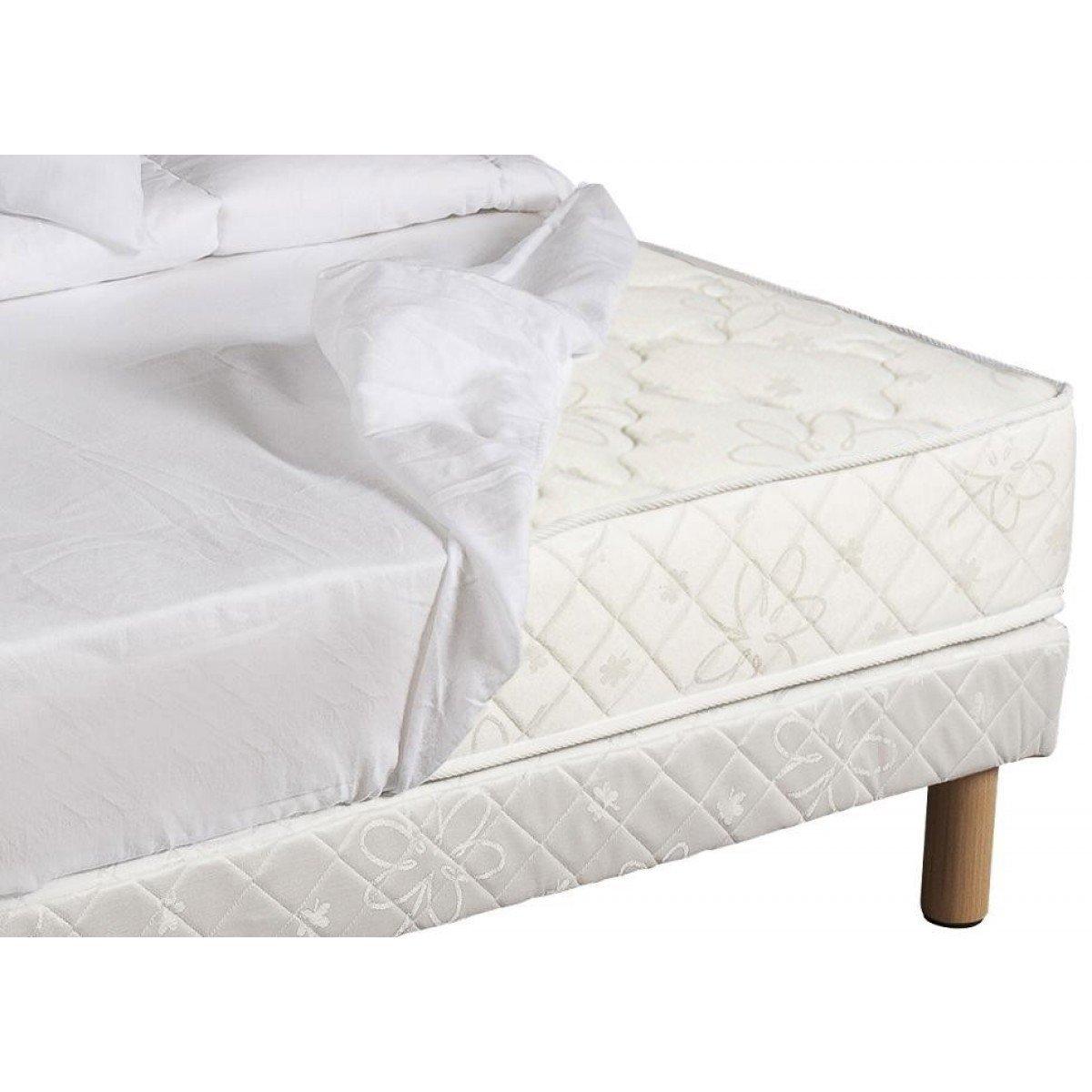 Revestimiento de colchones Moonilis blanco 100% algodón 27 cm 180 x 200: Amazon.es: Hogar