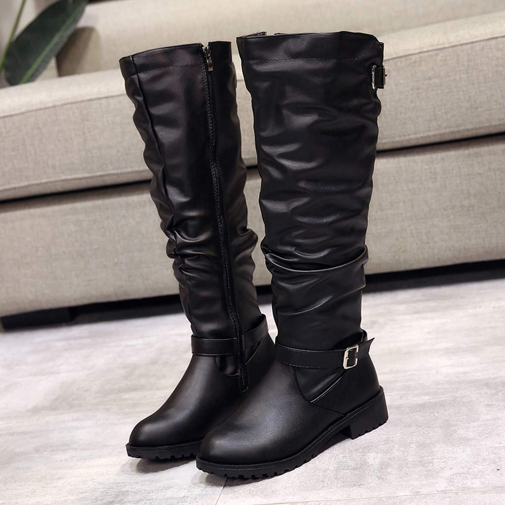 246990bdb241f DENER❤ Women Ladies Knee High Boots with Low Heels, Winter ...