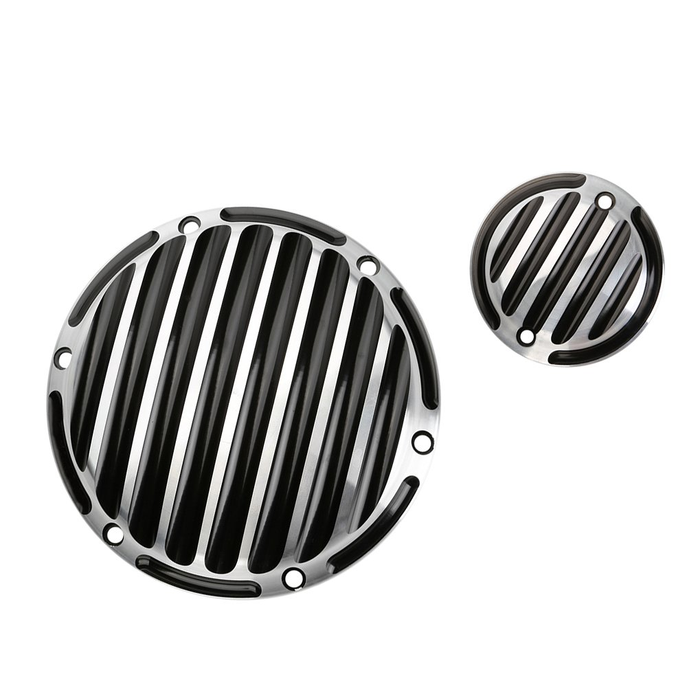 ECLEAR Clutch Finned Timing Timer Derby Cover CNC Aluminum Motorcycle For Harley Sportster Iron 883 1200 48 - Black