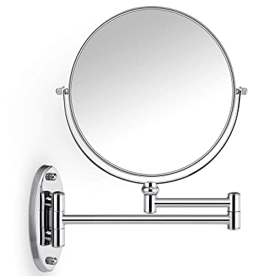 Buy Miusco Wall Mounted Makeup Mirror Premium 10x Magnifying 8 Two Sided Bathroom Vanity Mirror Extendable Arm Round Chrome Online In Indonesia B07jlb78lc