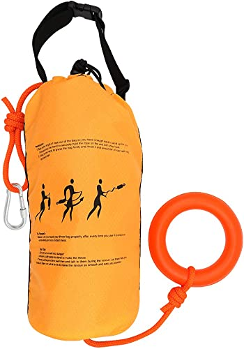 Water Rescue Throw Bag with 70/98 Feet of Rope (Throwable Device for Kayaking and Rafting, Safety Equipment for Raft and Boat) [Zixar] Picture