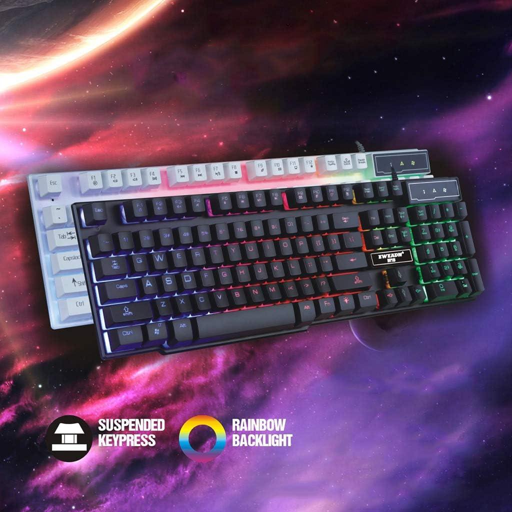 Gaming LED RGB retroilluminazione della Tastiera Tastiera Moving Gioco Meccanico per Giochi per Computer Sidougeri USB Wired Gaming Keyboard