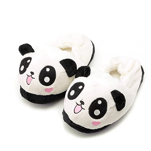 0b1c9a08f Image Unavailable. Image not available for. Color  Kocome Cute Funny Panda  Eyes Women Slippers Lovely Cartoon Indoor Home Soft Shoes