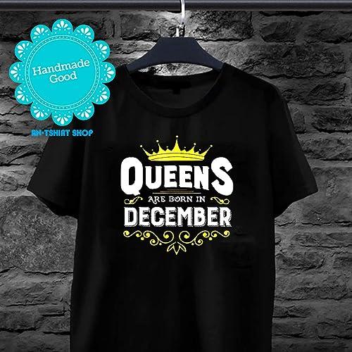 cd311d0bd Amazon.com: December Woman T-Shirt Funny Birthday Gift for Wife Mom:  Handmade