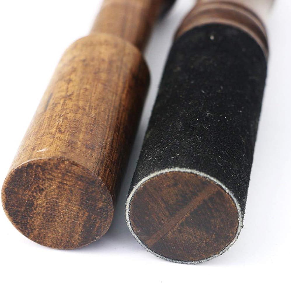 LUCOG Bol chantant tib/étain en bois dur Maillet Striker gain/é de cuir