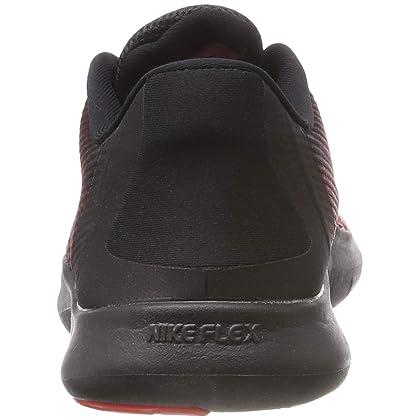 426a608425b4 ... NIKE Men s Flex RN 2018 Running Shoe Black University Red Team Red Size  15 ...