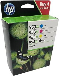 HP 1CC21AE 953XL Cartucho de Tinta Original de alto rendimiento, 3 ...