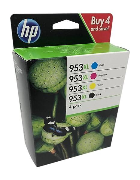 HP 953 XL Negro/Cian/Magenta/Amarillo Cartuchos de Tinta Original para Impresora HP Officejet Pro 7720 7730 7740 8710 8715 8718 8719 8720 8725 8730 ...