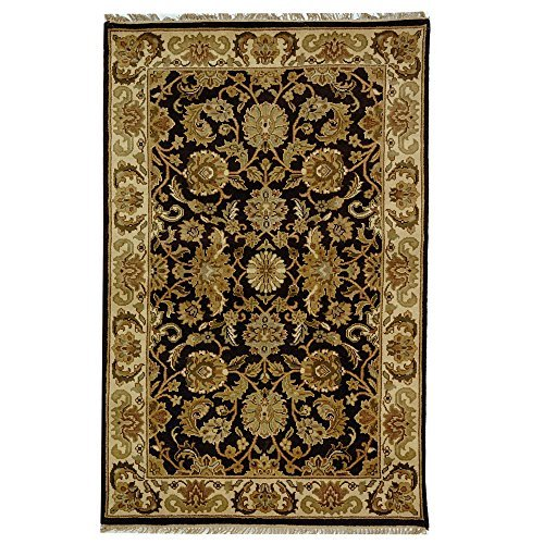 5' Dynasty Collection (Safavieh Dynasty Collection DY239A Hand-Knotted Cola and Beige Wool Area Rug, 5 feet by 8 feet (5' x 8') by Safavieh)