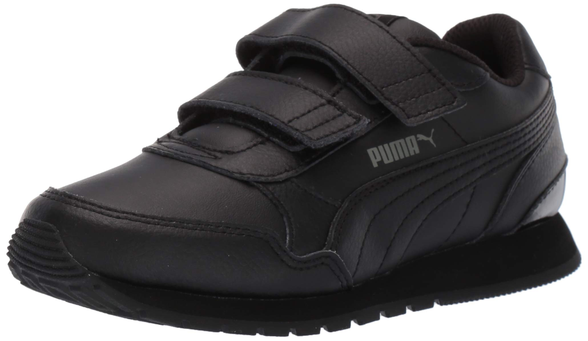 PUMA ST Runner V2 Velcro Sneaker Black-Dark Shadow, 13.5 M US Little Kid
