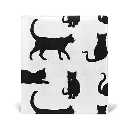 TIZORAX - Fundas de libro elásticas para gatos negros compatibles con la mayoría de libros de texto ...