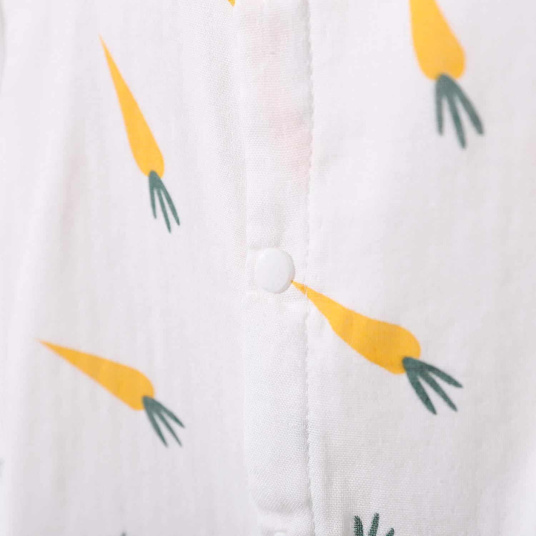 Yierying Baby Toddler Lovely Carrot Print Bodysuit Short Sleeve Rompers Newborn Summer