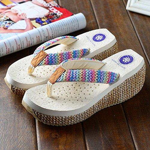 Verano Zapatillas De Chanclas cómodo Femenino Años Moda 2 40 sandalias Edad Para Sandalias Playa Señoras MEIDUO Nueva De 18 Deslizante FBYYgqtw