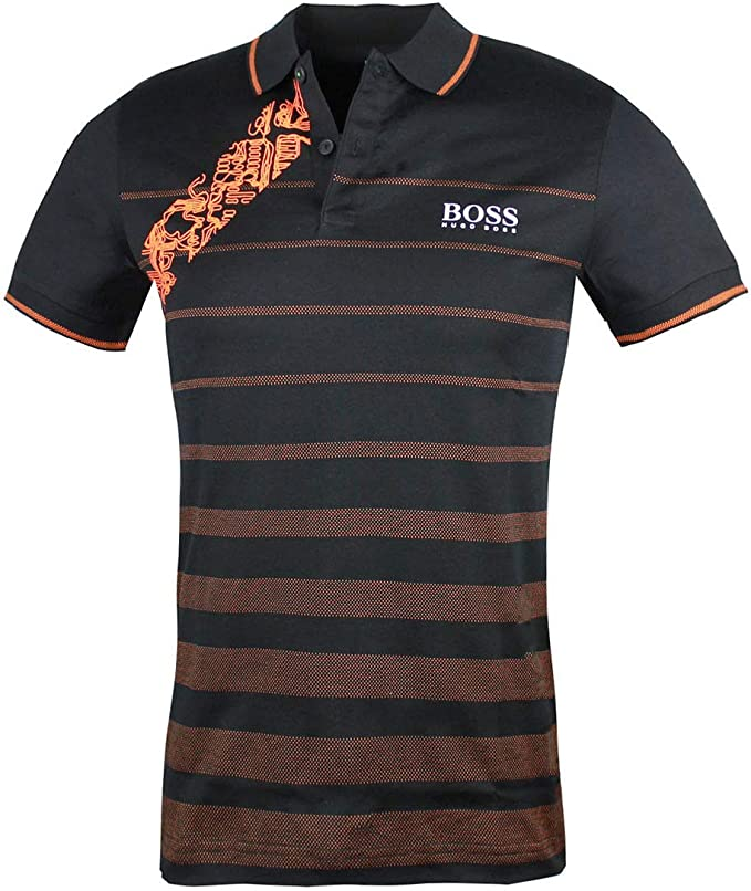 Hugo Boss Men/'s Paule-2 Slim Fit Short Sleeve Cotton Polo Shirt