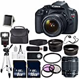 Canon EOS Rebel T5 DSLR Camera w/EF-S 18-55mm Lens + 58mm UV Filter + 58mm 3 Piece Filter Kit + 58mm 2x Telephoto Lens + 58mm Wide Angle