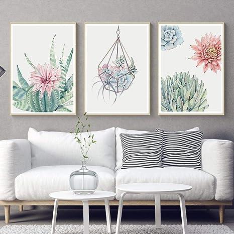 3PCS//Set Paint Flowers Canvas Painting Print Wall Art Picture Living Room Decors