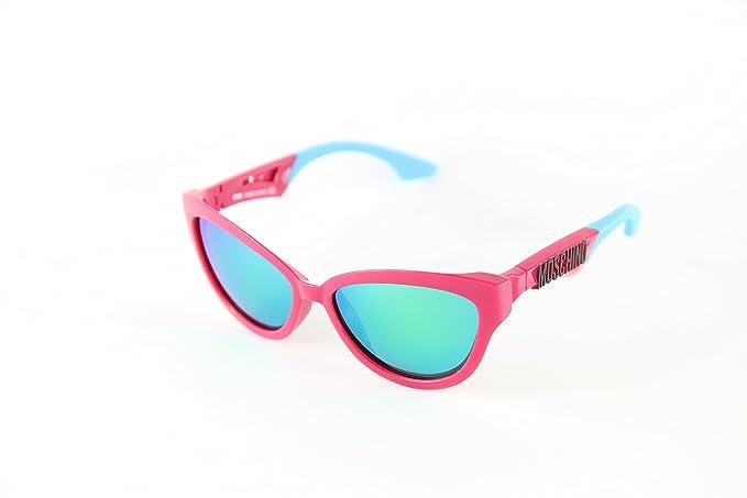 Moschino MO-817S-02 Gafas de Sol, Violet/Blue/Green Mirrored, 57 para Mujer