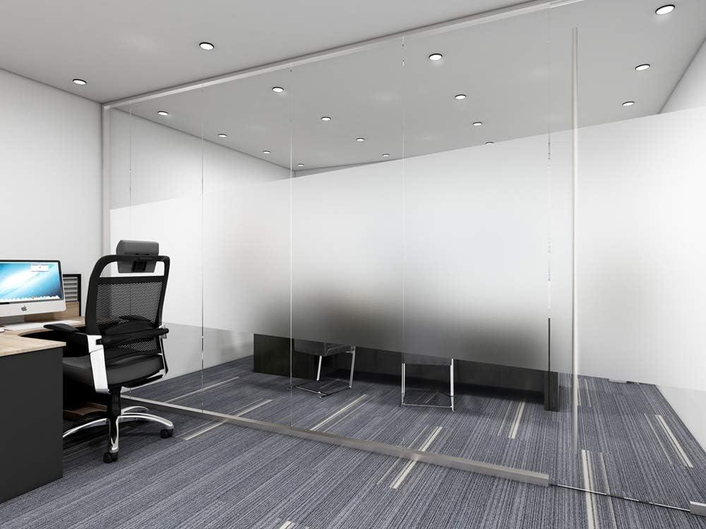 AOKKR Pellicola per Vetri e Finestre Vetri-Autoadesive Pellicola per Vetri per la Privacy per Ufficio Bagno Camera da Letto Sala di Riunione 40cm*200cm
