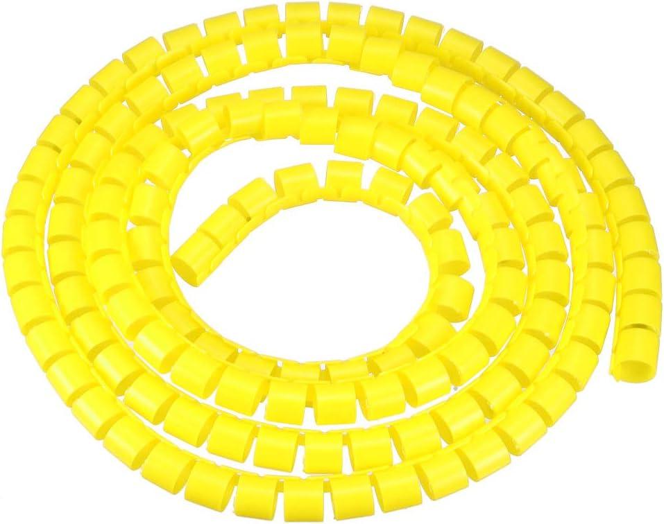 sourcing map Flexible Spirale Tube Enveloppe C/âble Gestion Manchon 14 x 16mm Ordinateur Fil G/érer Cordon Vert 2m