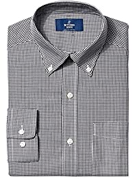 Men's Classic Fit Button-Collar Pattern Non-Iron Dress Shirt with Pocket