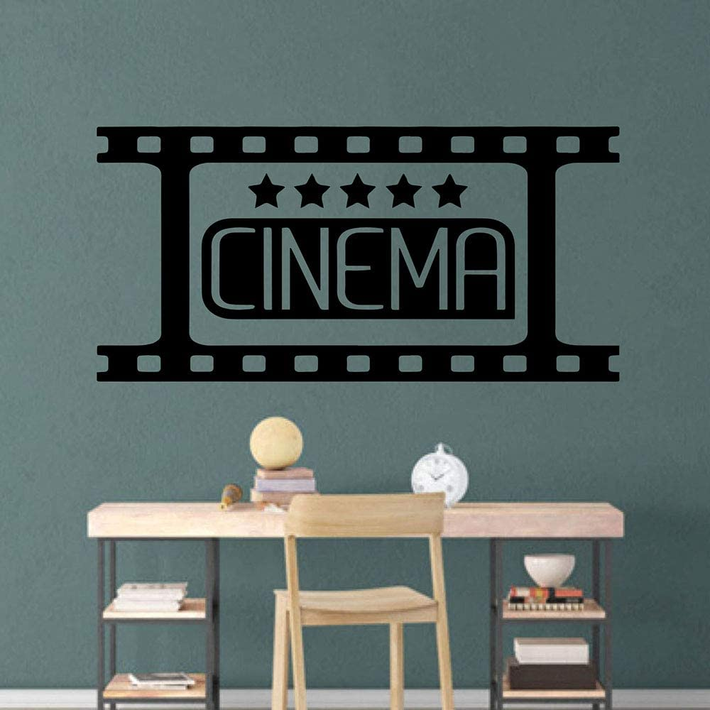 Amazon Com Home Theater Cinema Wall Decals Kids Room Bedroom Movie Film Strip Welcome Wall Stickers Living Room Vinyl Art 56x27cm Kitchen Dining