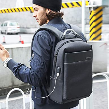 16 inches ZGSP Anti-Theft Laptop Backpack Business Bags with USB Charging Port School Travel Pack Fits Under Most 15.6 inch Laptop