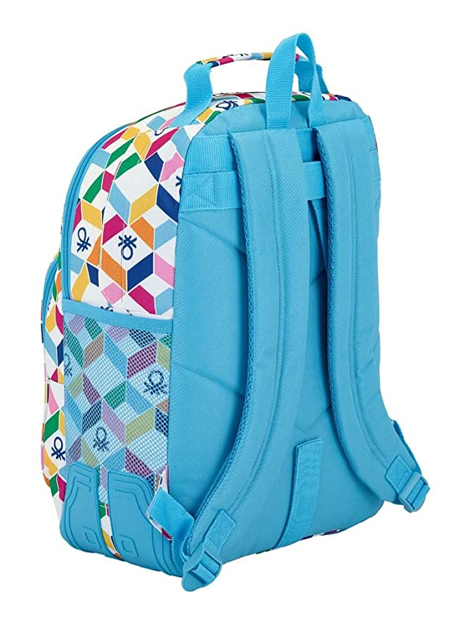 Amazon.com : Stationery Benetton Geometric Adaptable Backpack 42cm : Office Products