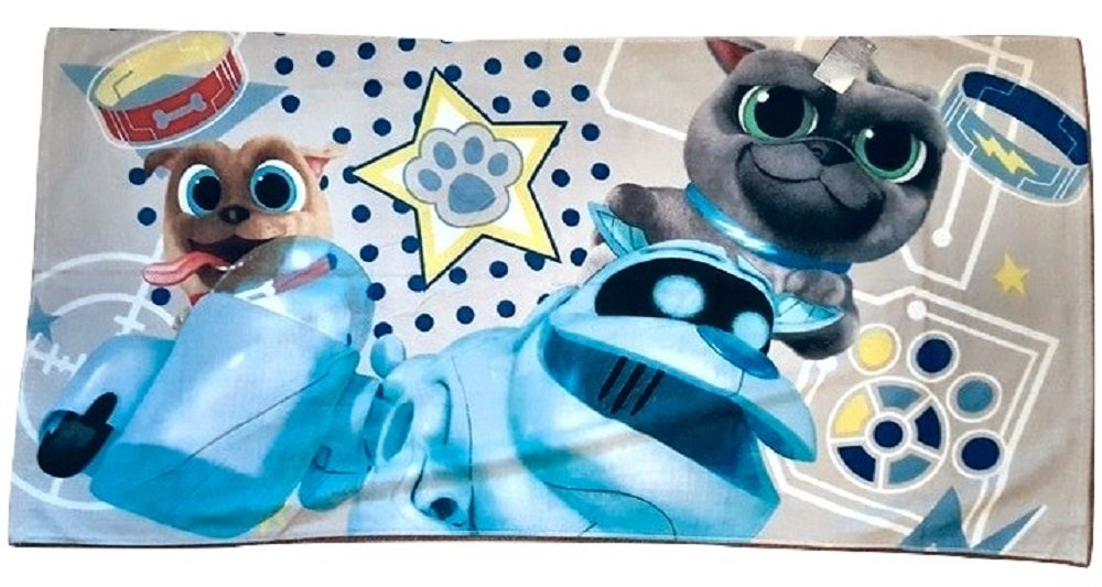Shop Disney Outlet Puppy Dog Pals Beach Towel - Bingo Rolly A.R.F.