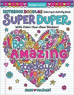 Amazon.com: Notebook Doodles Super Duper Coloring & Activity Book ...