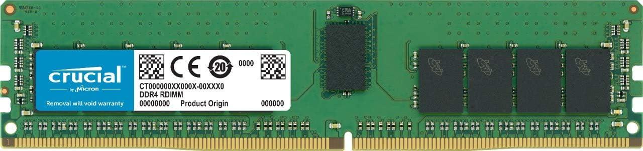 Memoria para servidores Crucial 32GB CT32G4RFD4293 DDR4, 2933 MT//s, PC4-23400, DIMM, Registrada, CL21, Dual Rank x4, ECC, 288-Pin