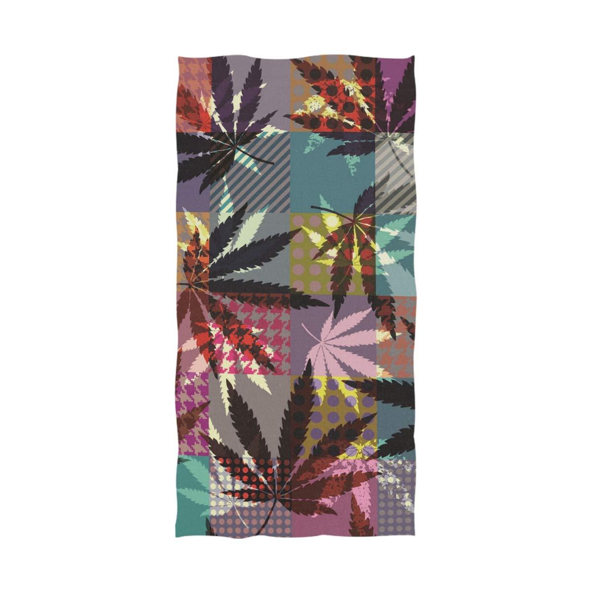 Ahomy - Toalla de baño étnica con diseño de Hojas de Marihuana (81 x 162 cm), Lavable a máquina, Absorbente: Amazon.es: Hogar