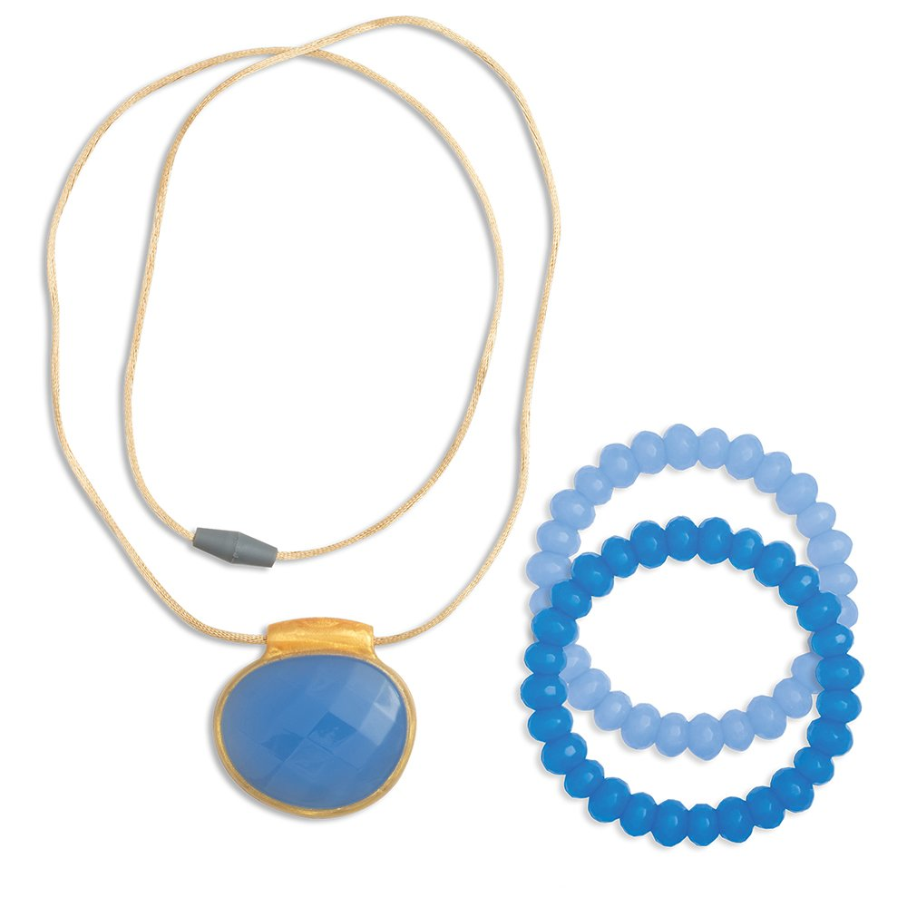 Infantino Teething Gems Pendant and Bracelet Set, Periwinkle