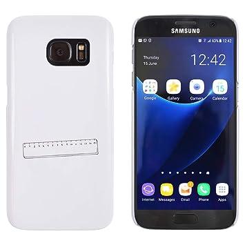 Azeeda Blanco Regla Funda / Carcasa para Samsung Galaxy S7 ...