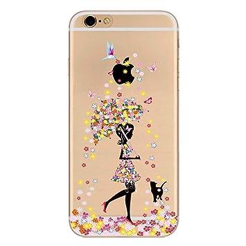 Funda carcasa Apple Iphone 6 / 6S gel / TPU / transparente Mariposas
